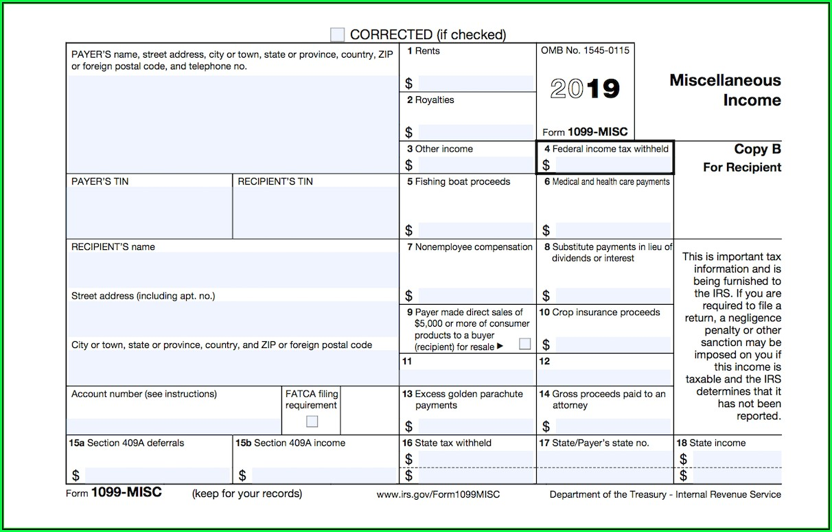 How To File A 1099 Misc Tax Form
