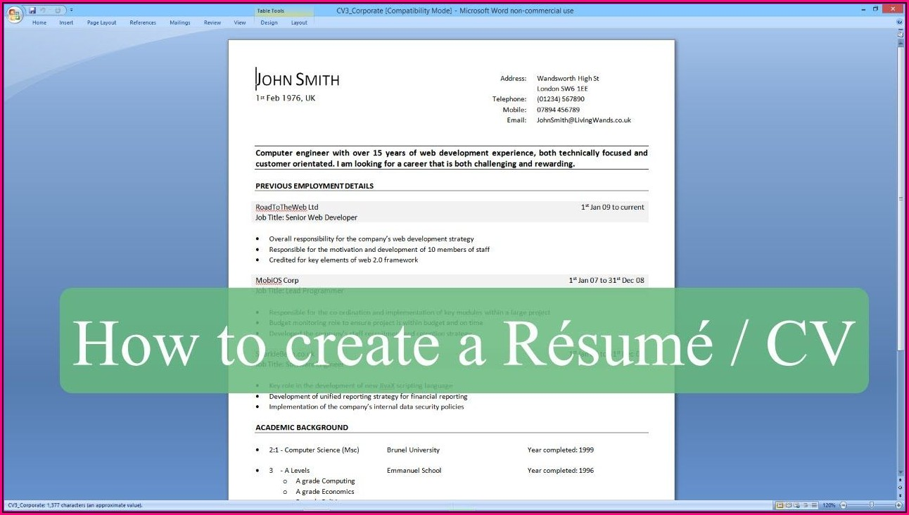 How To Make A Resume On Word Step By Step