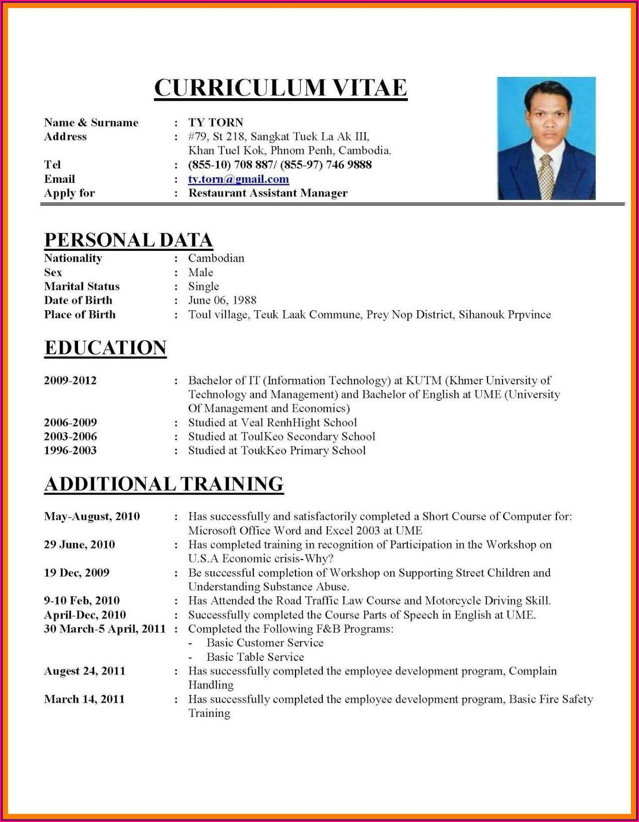 How To Write Job Resume