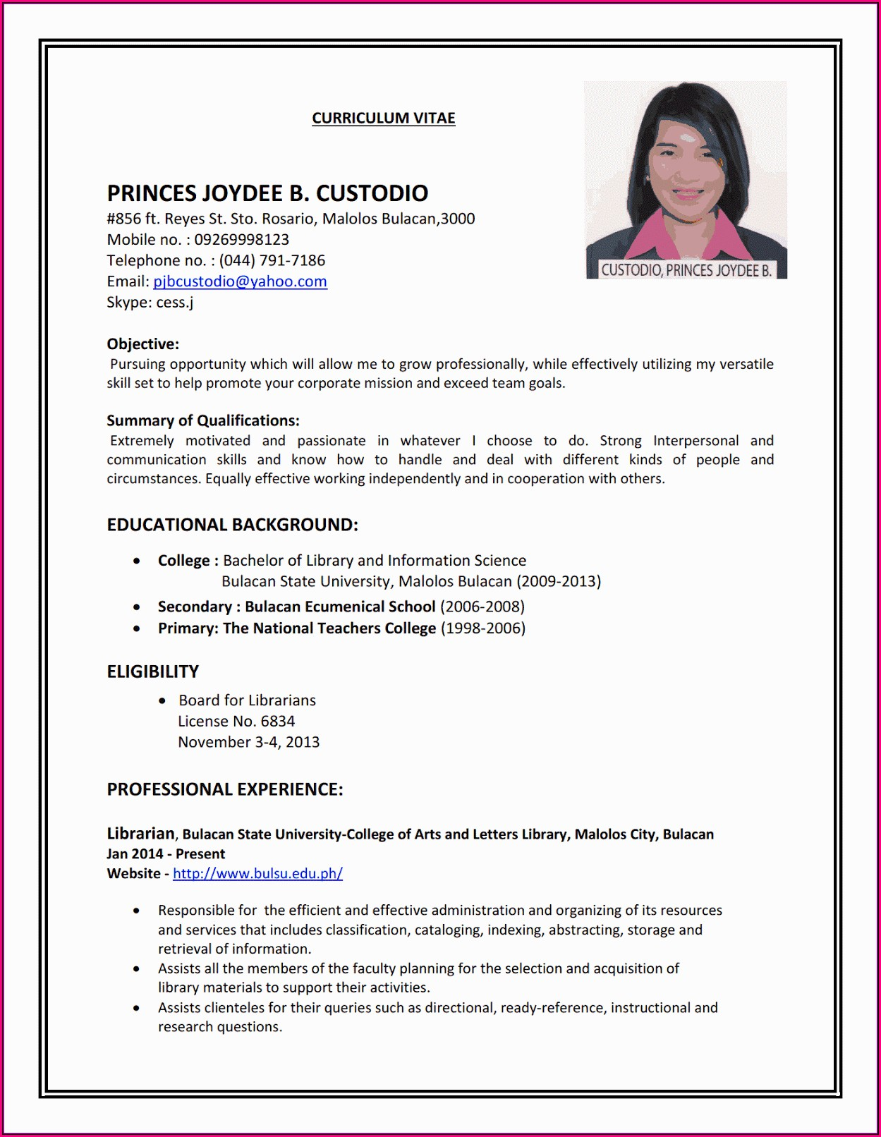 I Want To Make A Good Resume