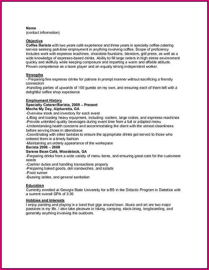 Inexperienced Resume Template