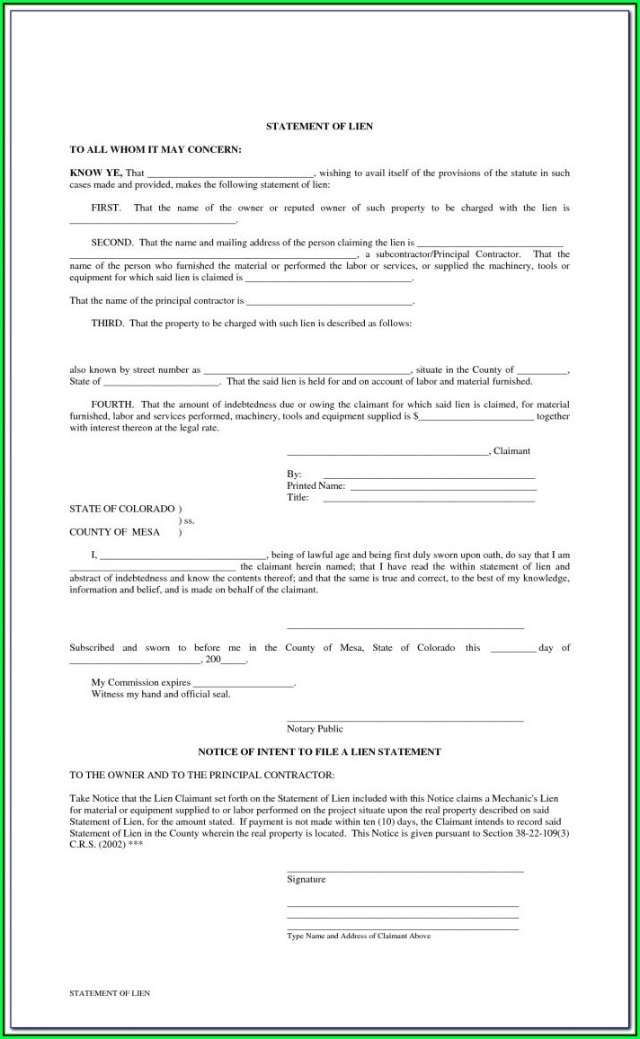 Intent To Evict Notice Form
