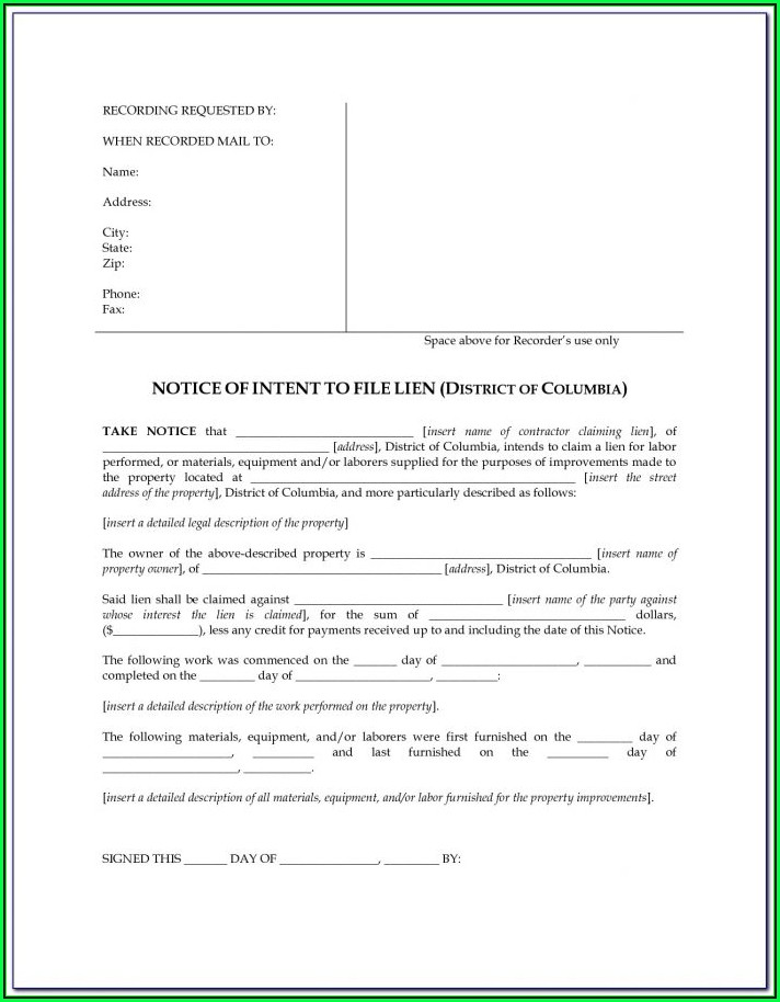Intent To Evict Notice Sample