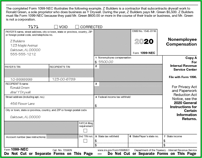 Irs Employer 1099 Forms