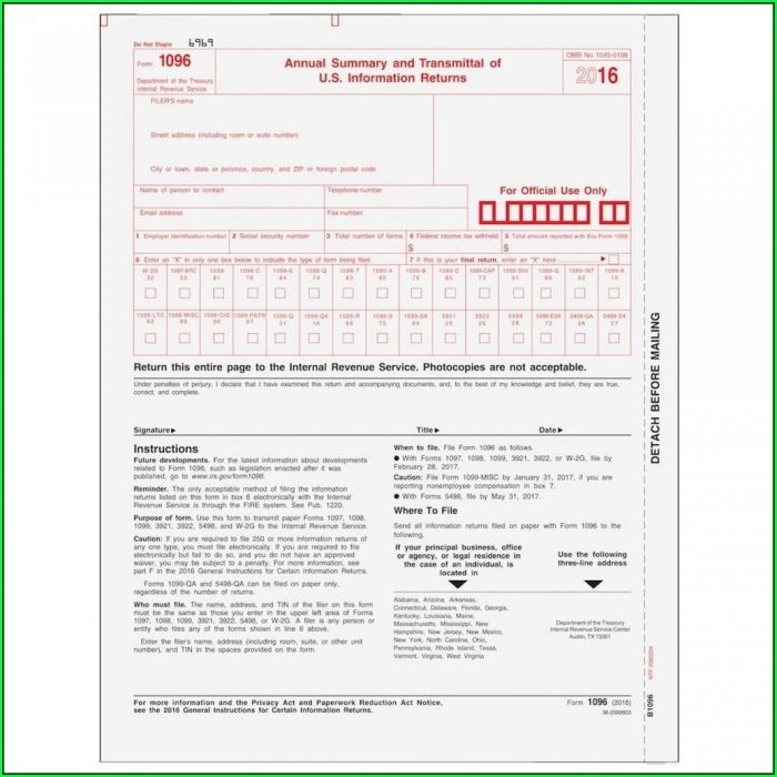 Irs Form 1099 Misc 2014