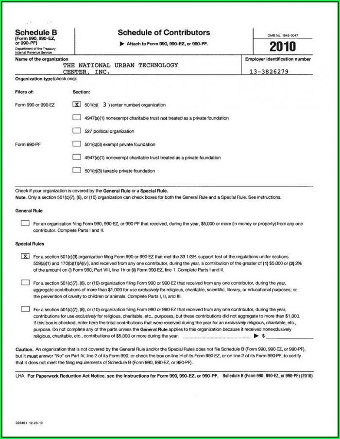 Irs Form 990 Ez Instructions