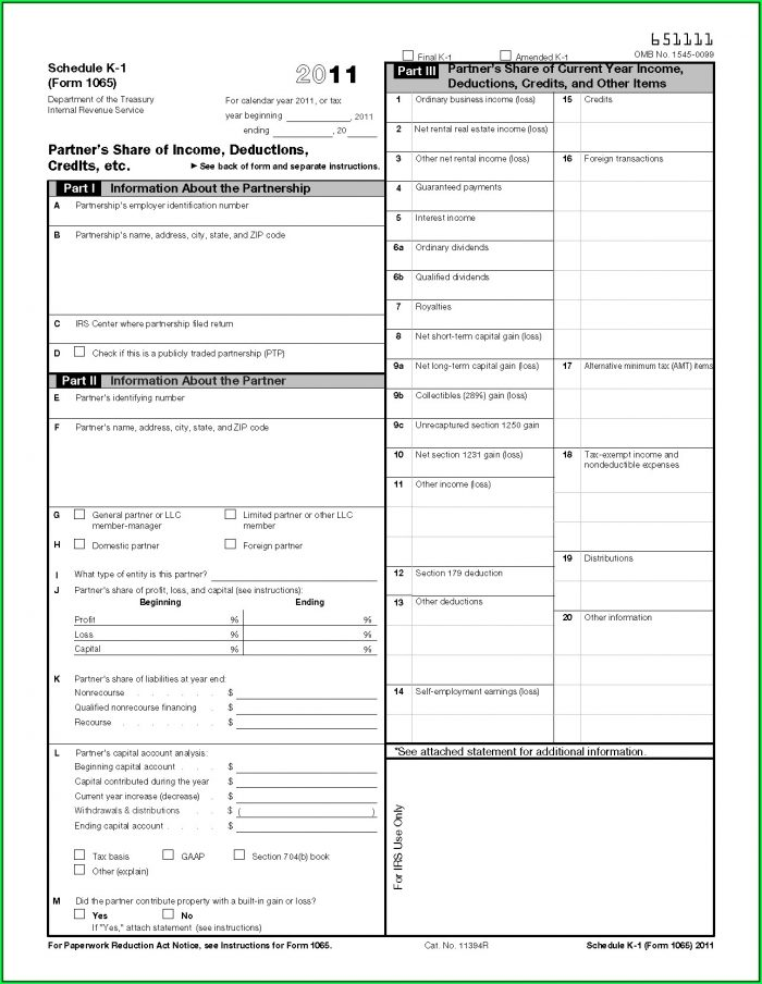 Irs Forms 1041 K 1