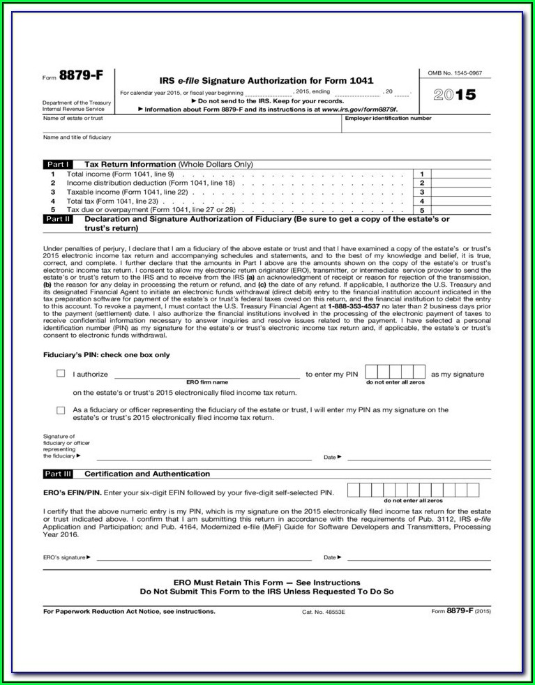 Irs Tax Form 1041 For 2015