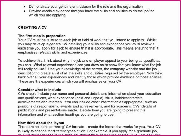 Job Application Printable Resume Format