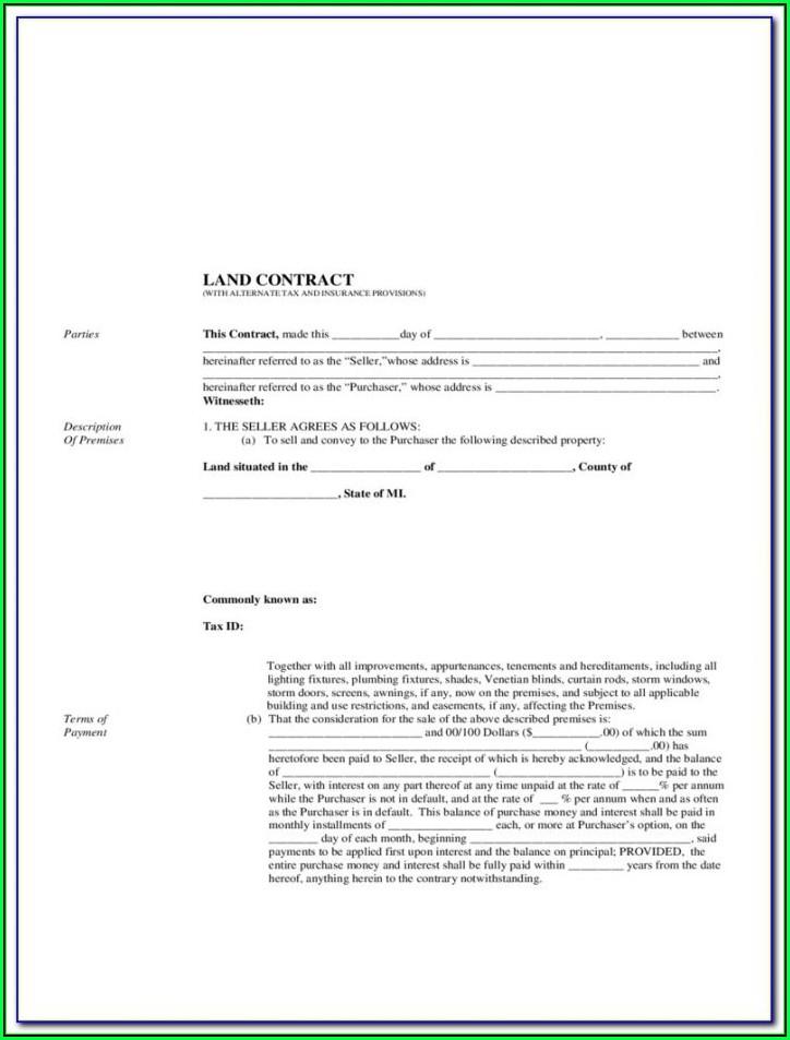 Land Contract Form Ohio