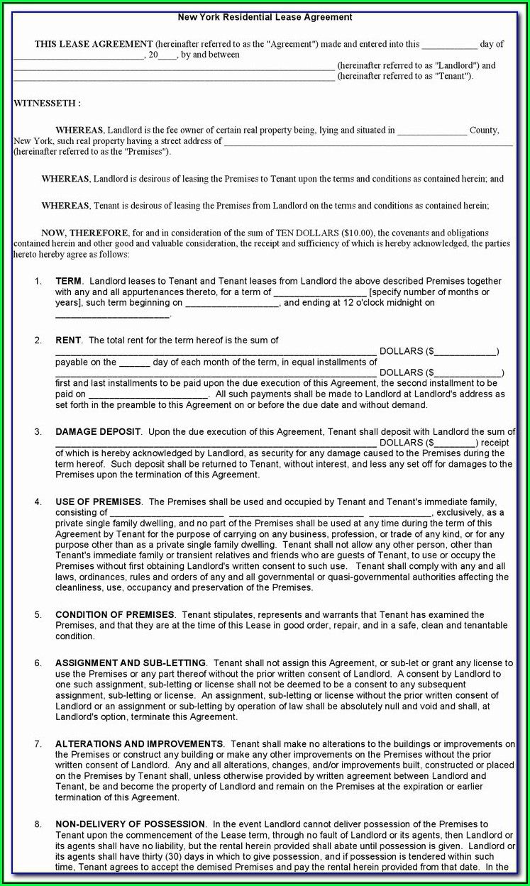 Lease Renewal Form Texas