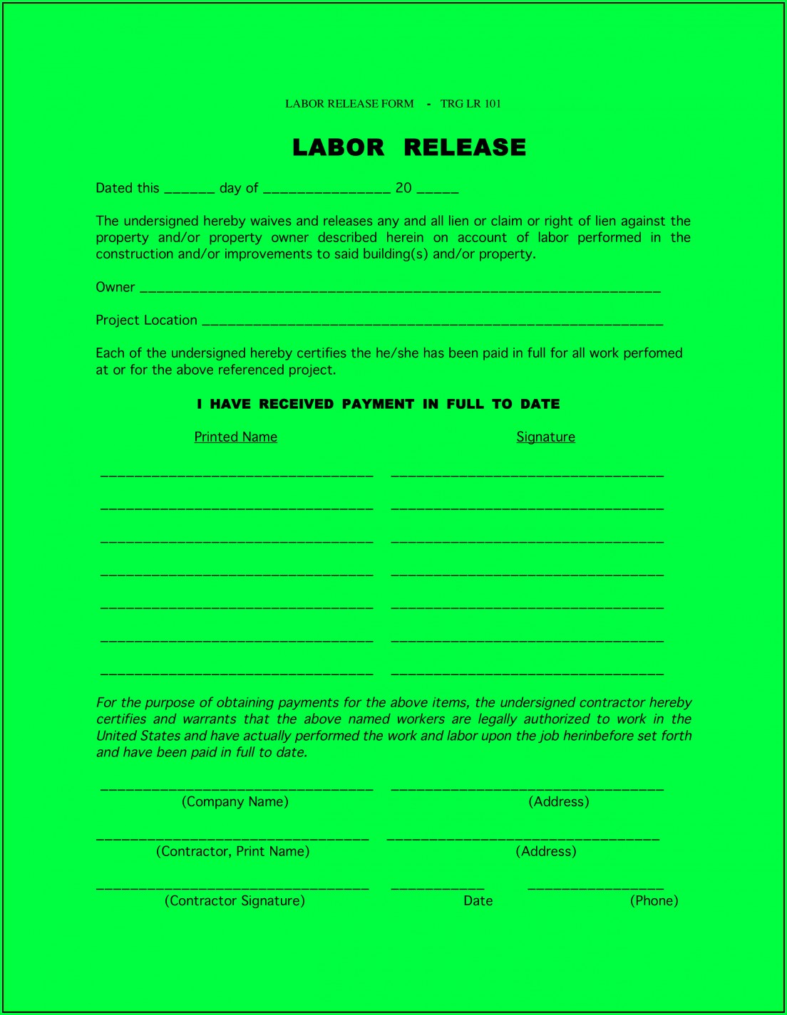 Lien Release Form Florida Dmv