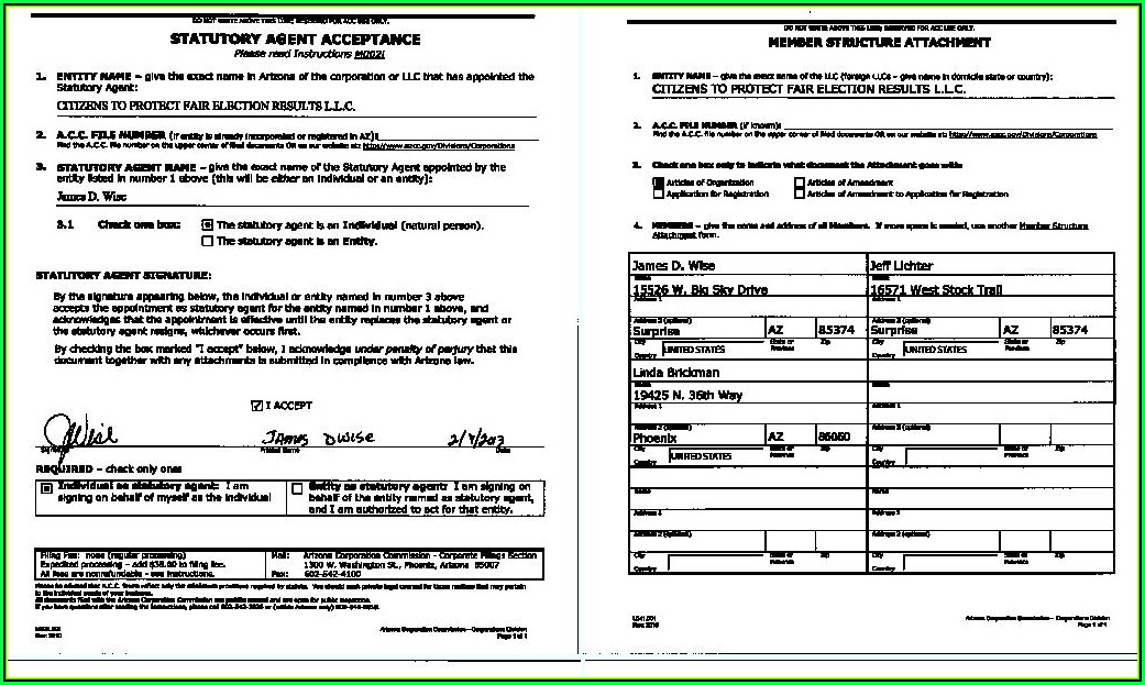 Llc Arizona Forms