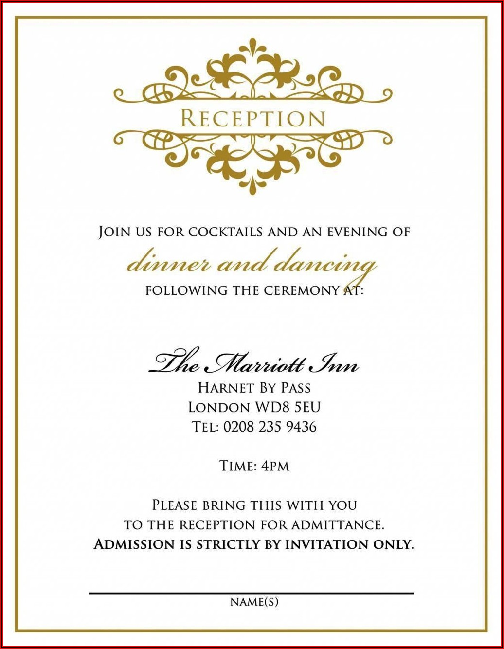 Marriage Invitation Template For Friends