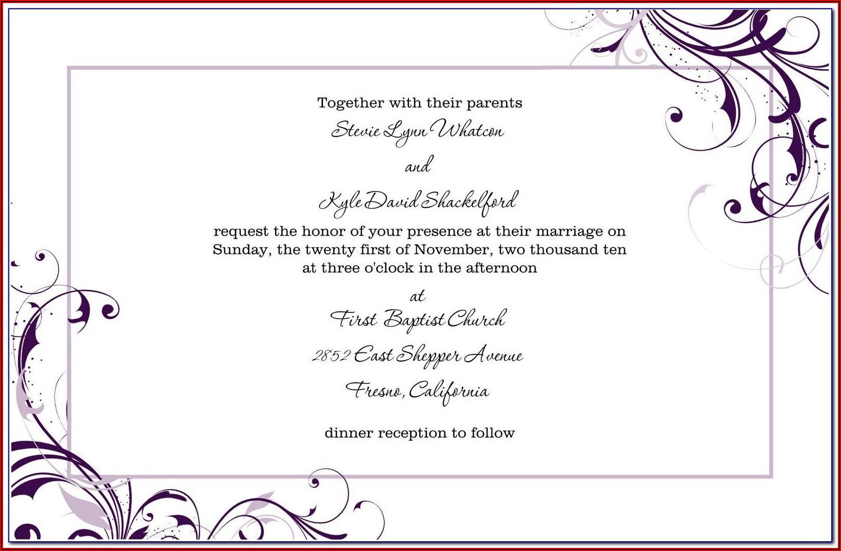 Marriage Invitation Template Tamil