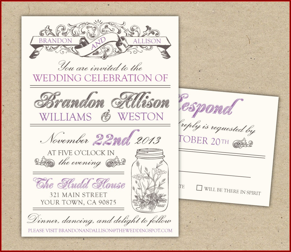 Marriage Invitation Templates Free Download
