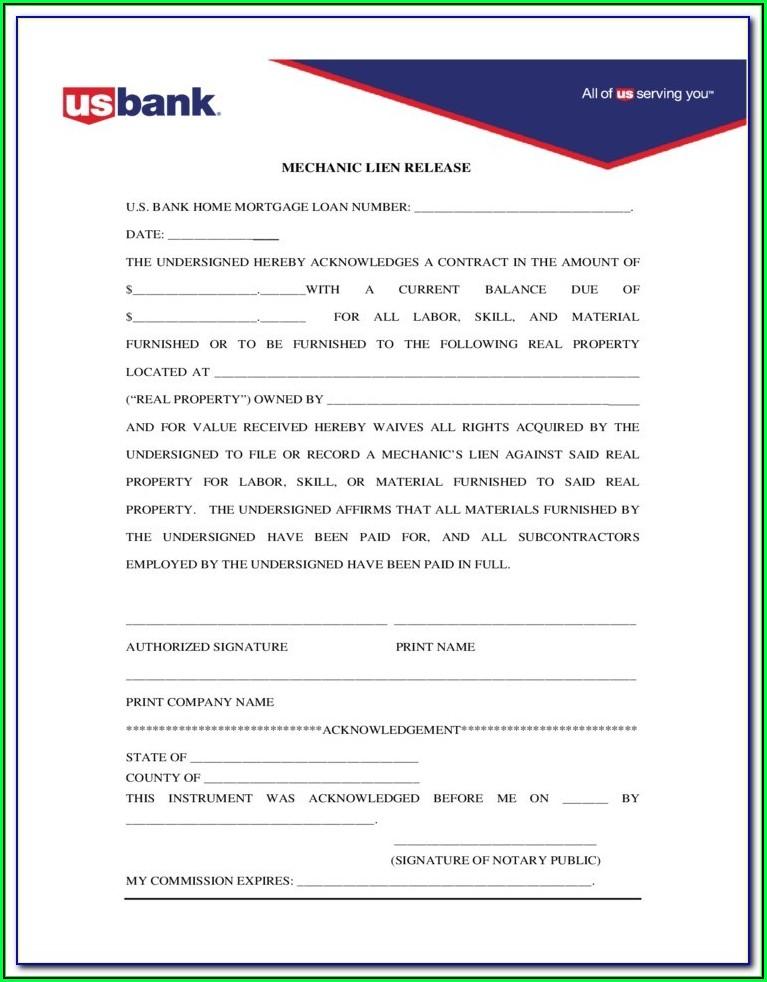 Massachusetts Mechanics Lien Release Form