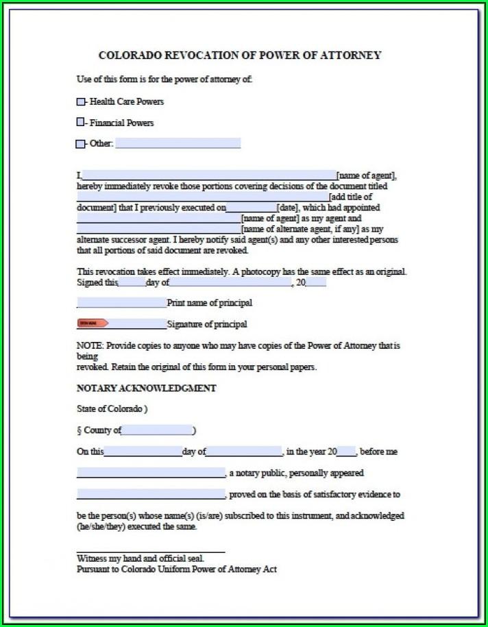 Medical Proxy Form Colorado