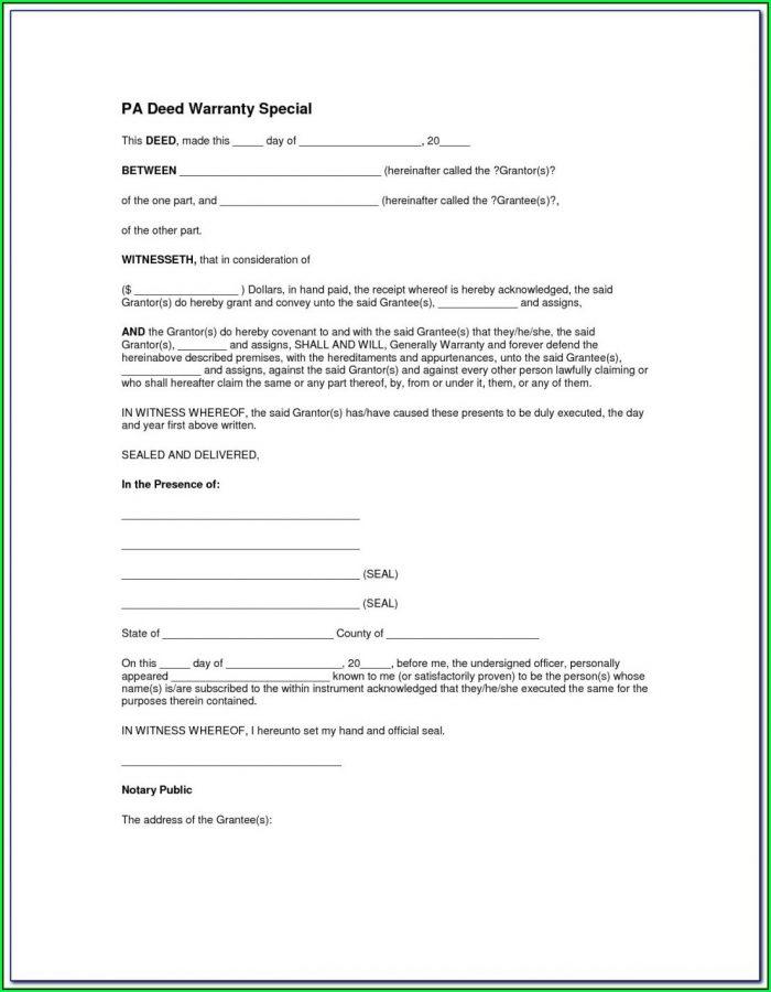 Michigan General Warranty Deed Form