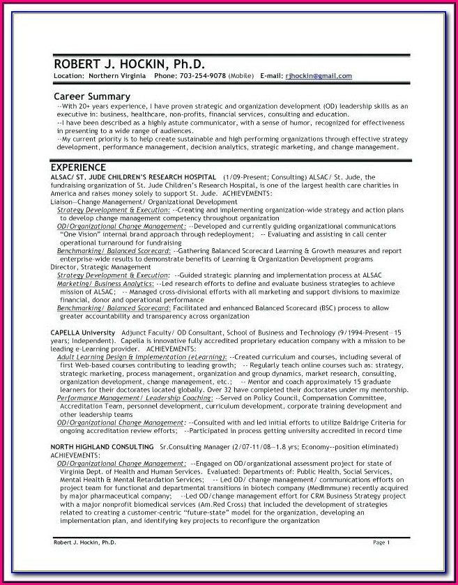 Military Spouse Resume Examples