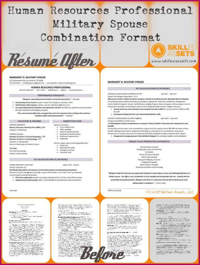 Military Spouse Resume Summary