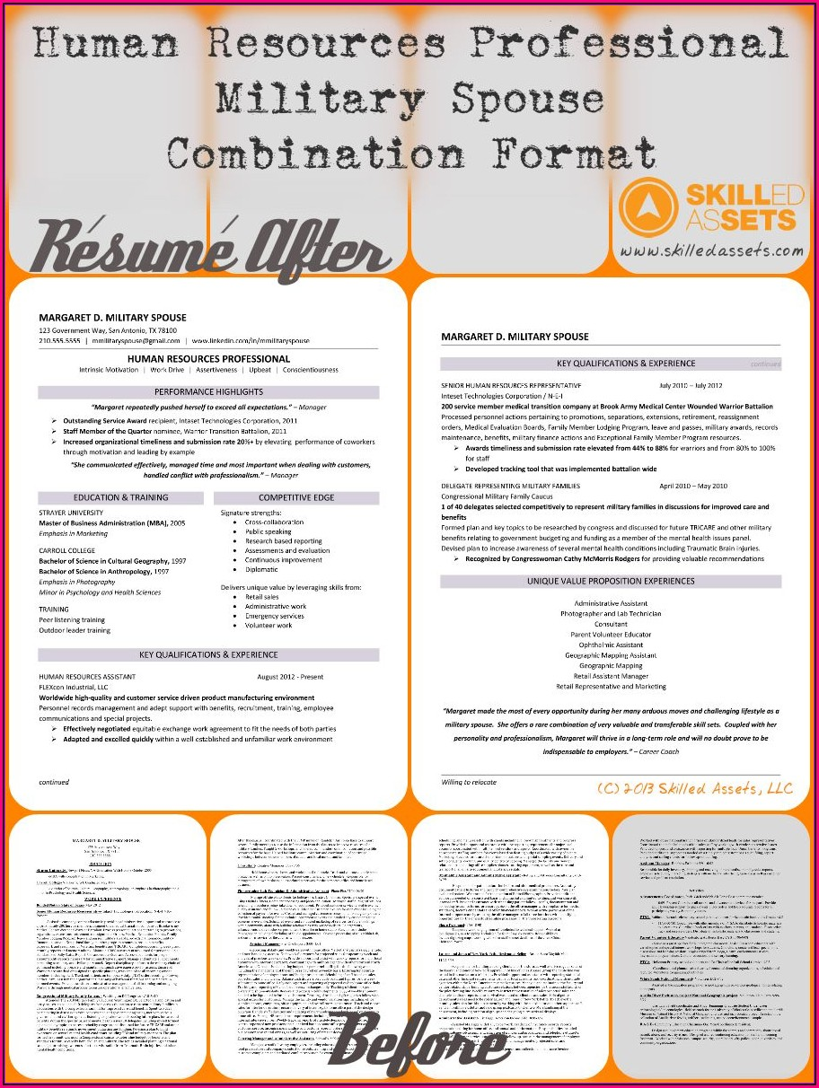 Military Spouse Resume Summary