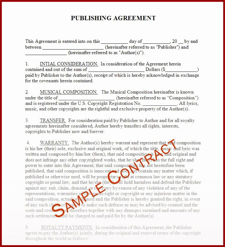 Music Producer Contract Template Free