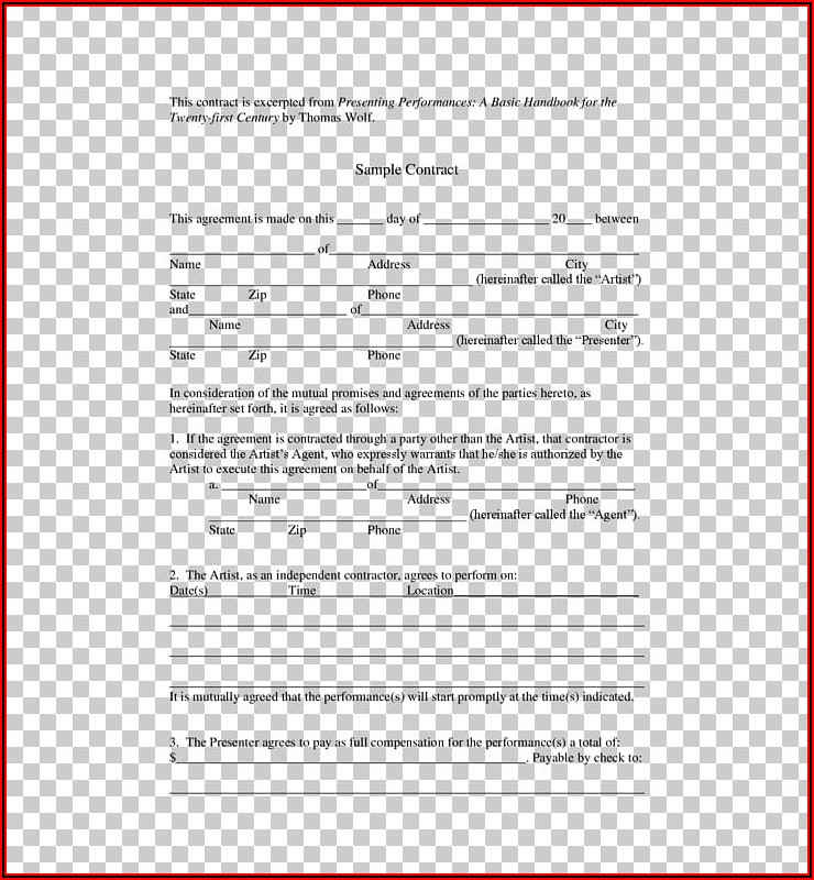 Music Production Agreement Contract Template