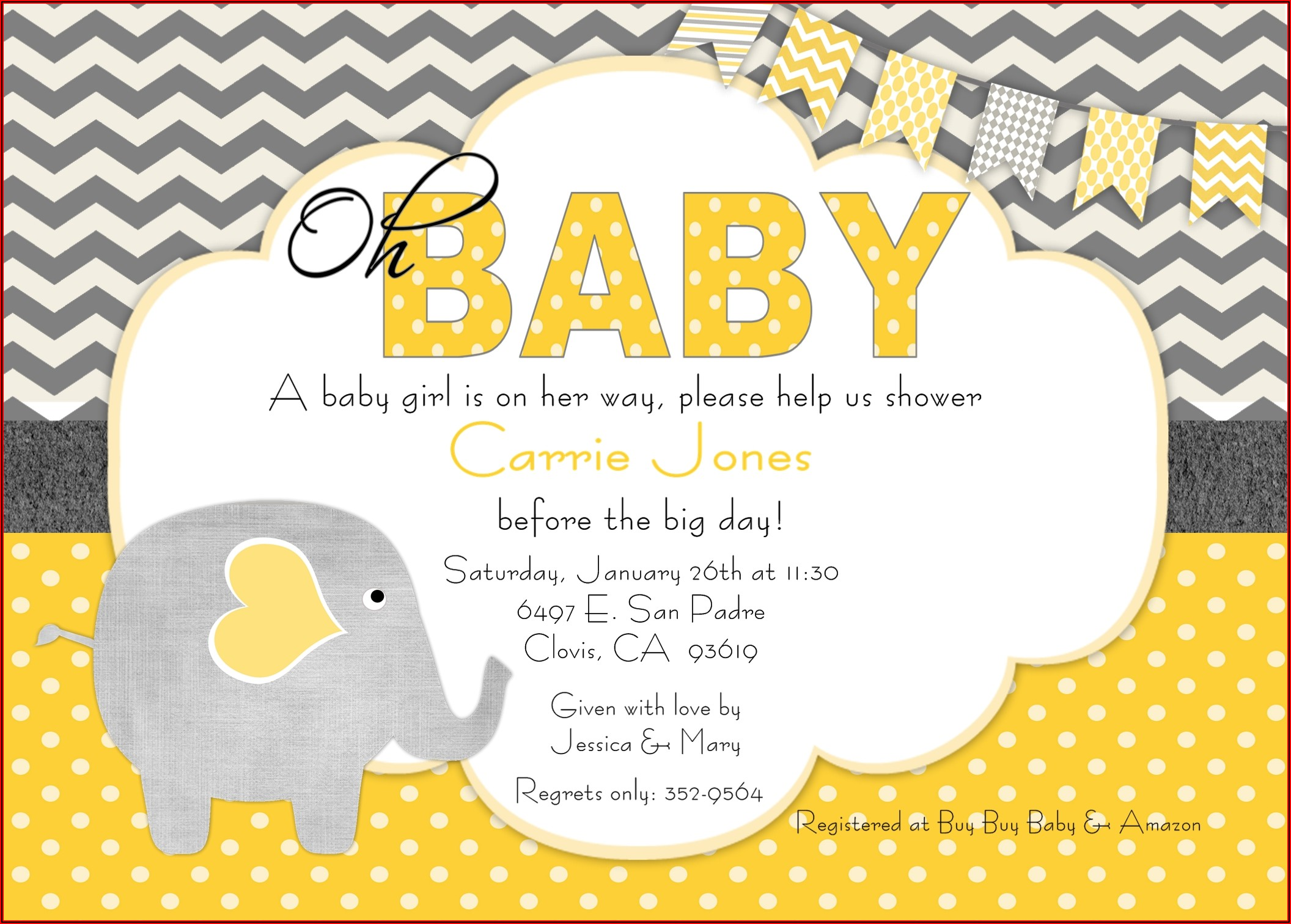 Nautical Girl Baby Shower Invitations Templates Free