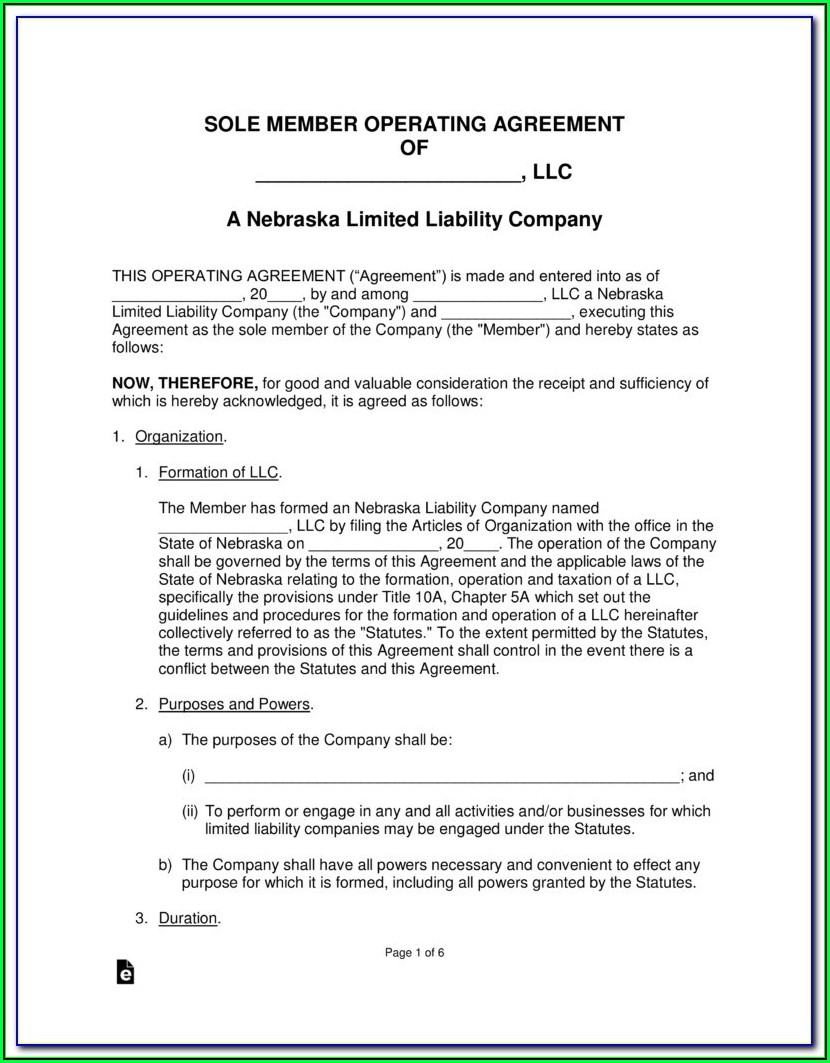 Nebraska Secretary Of State Llc Forms