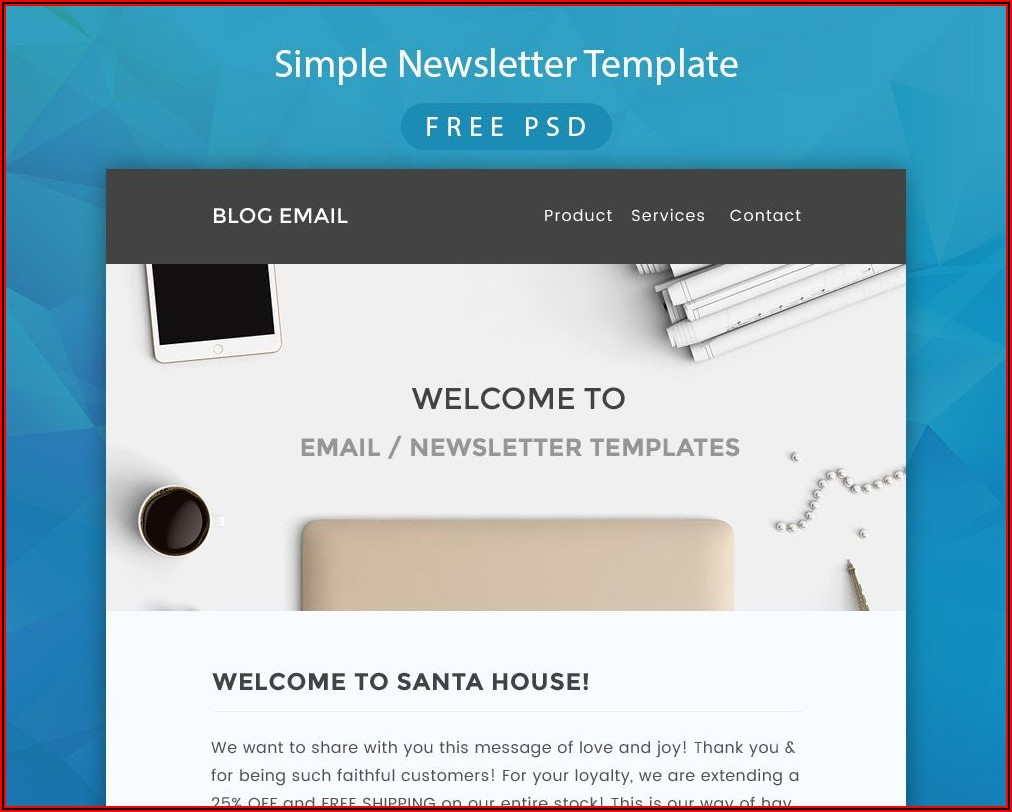 Newsletter Psd Template Download