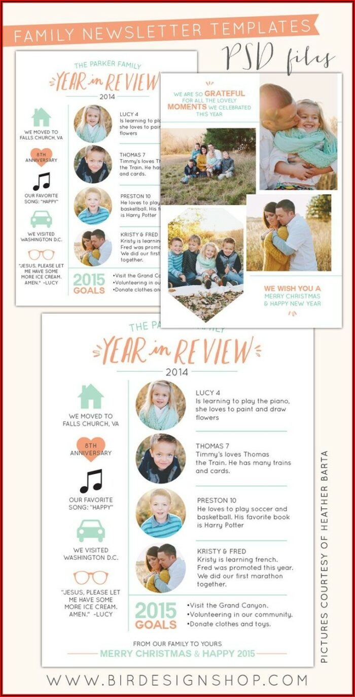 Newsletter Template Photoshop Free