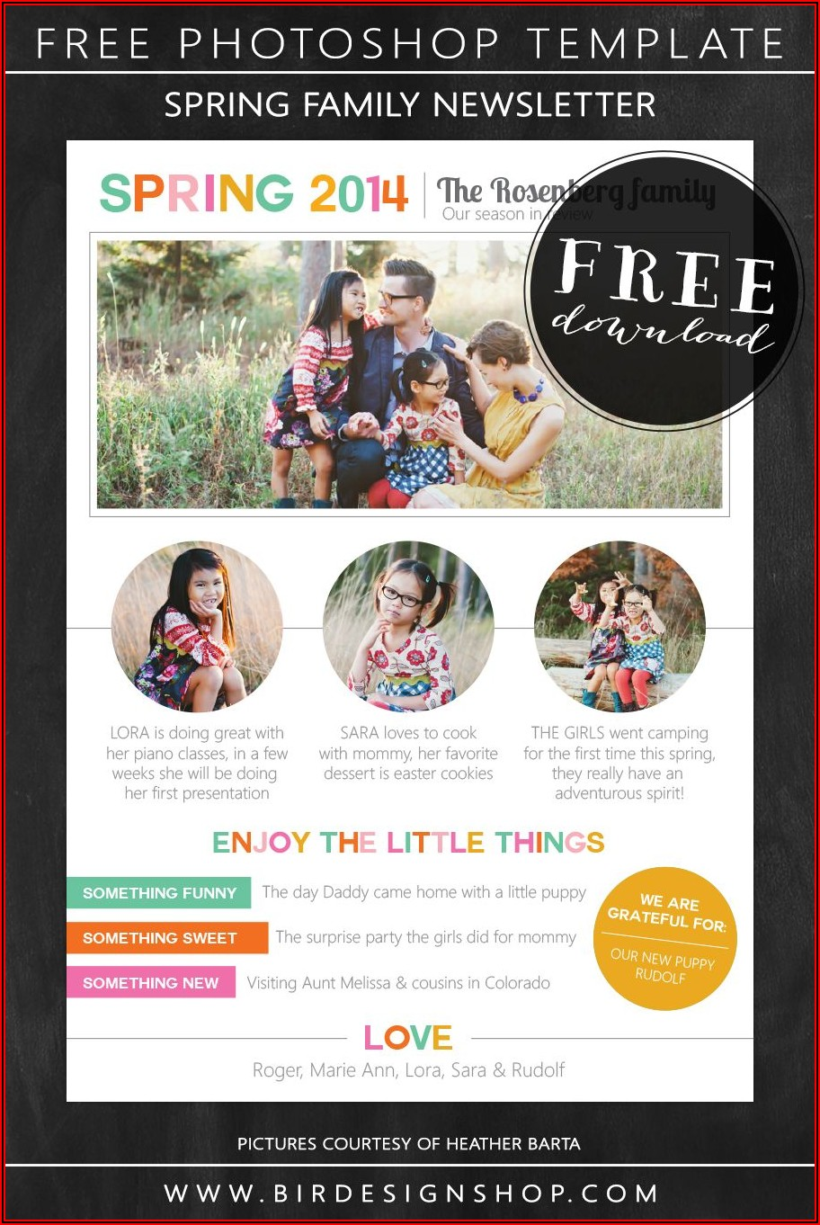 Newsletter Template Photoshop