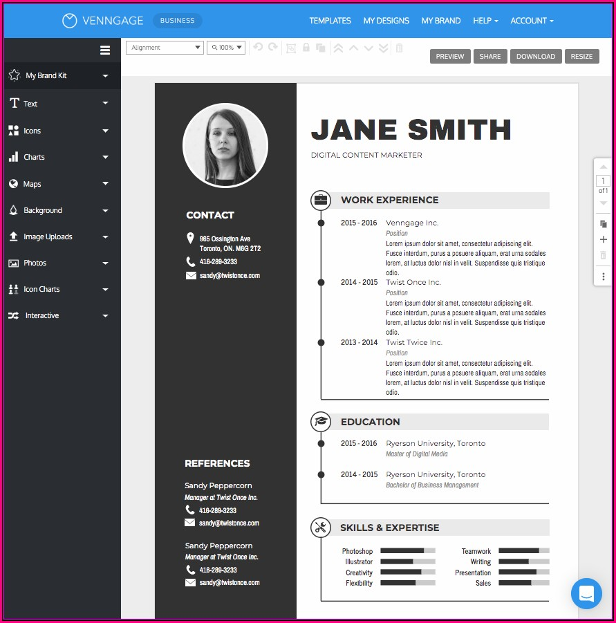 Online Resume Maker For Freshers And Download