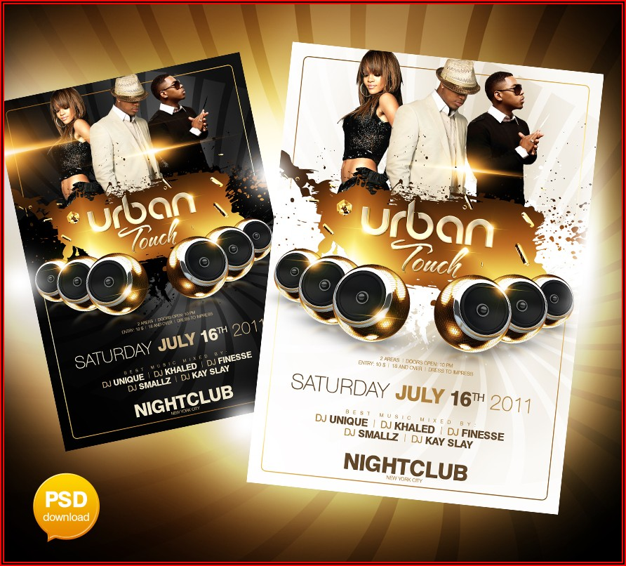 Party Flyers Templates Free Photoshop