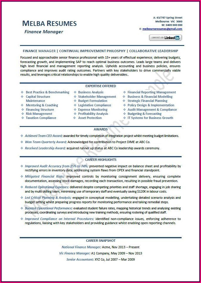 Professional Resume Companies Melbourne