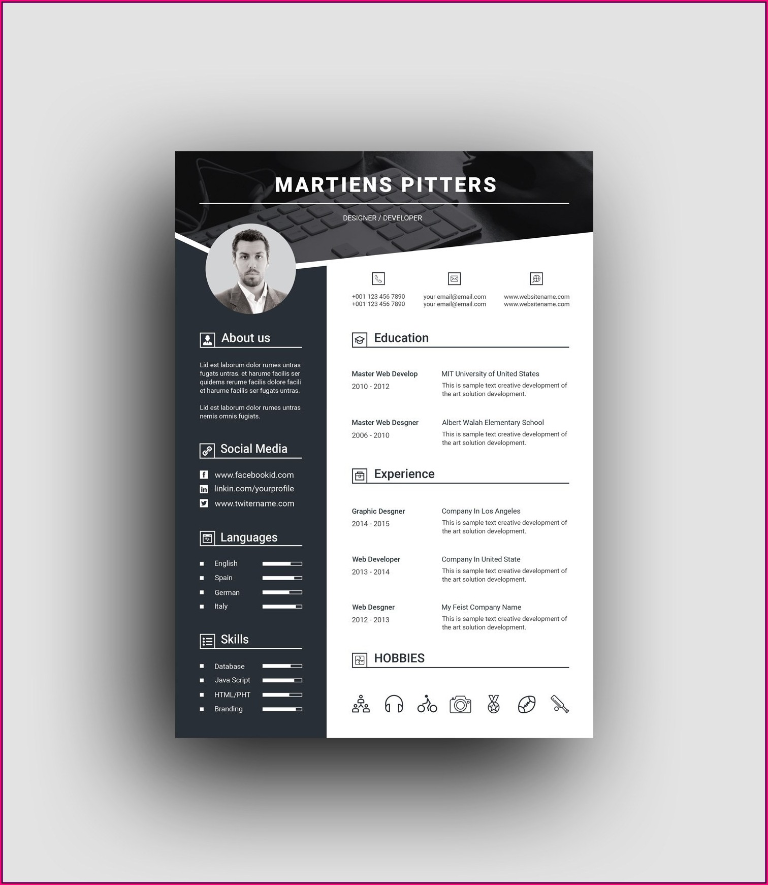 Professional Resume Design Templates
