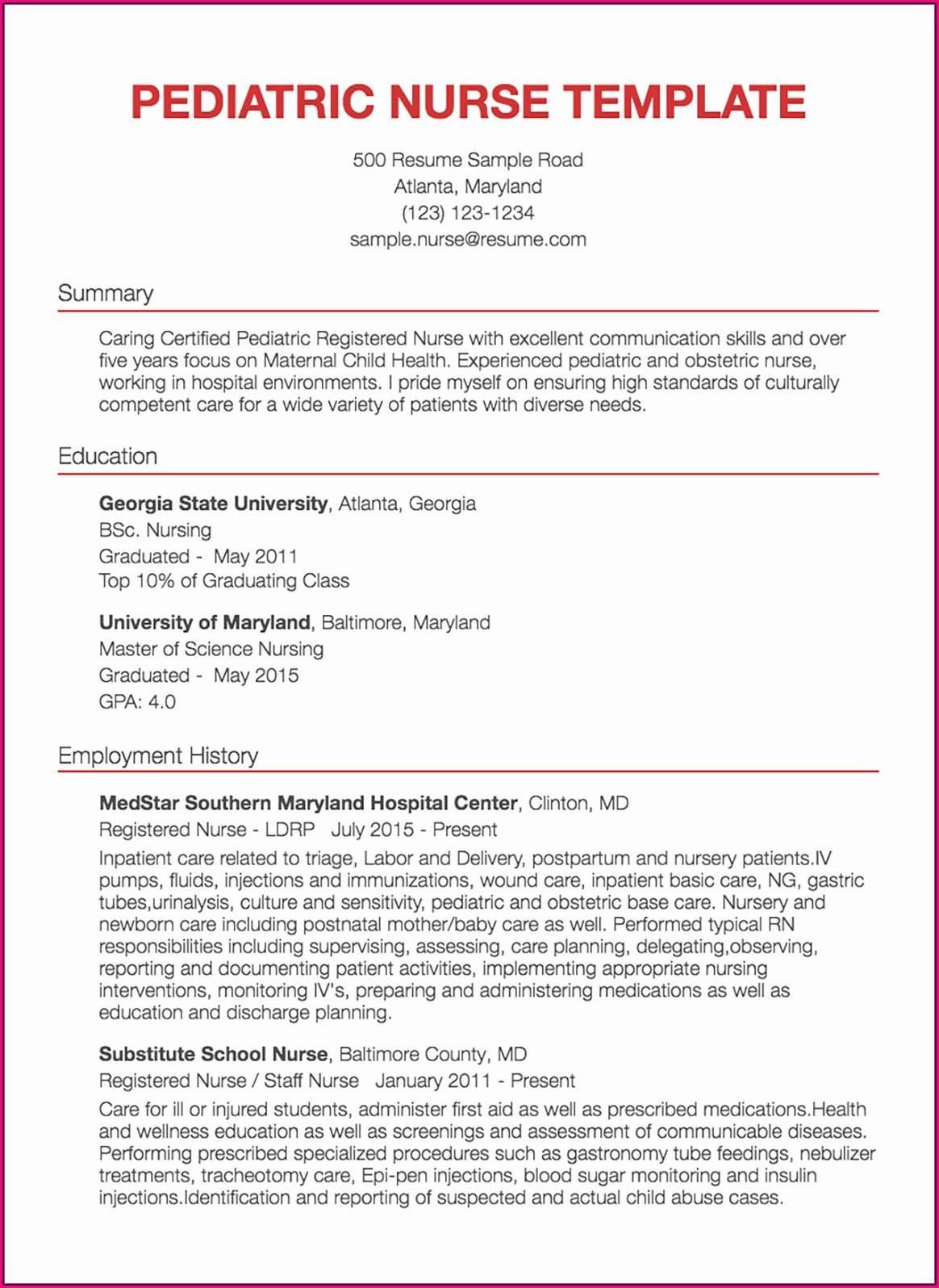 Registered Nurse Icu Resume Examples