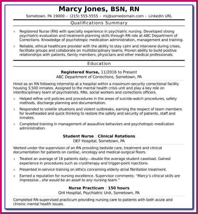 Registered Nurse Resume Examples Australia