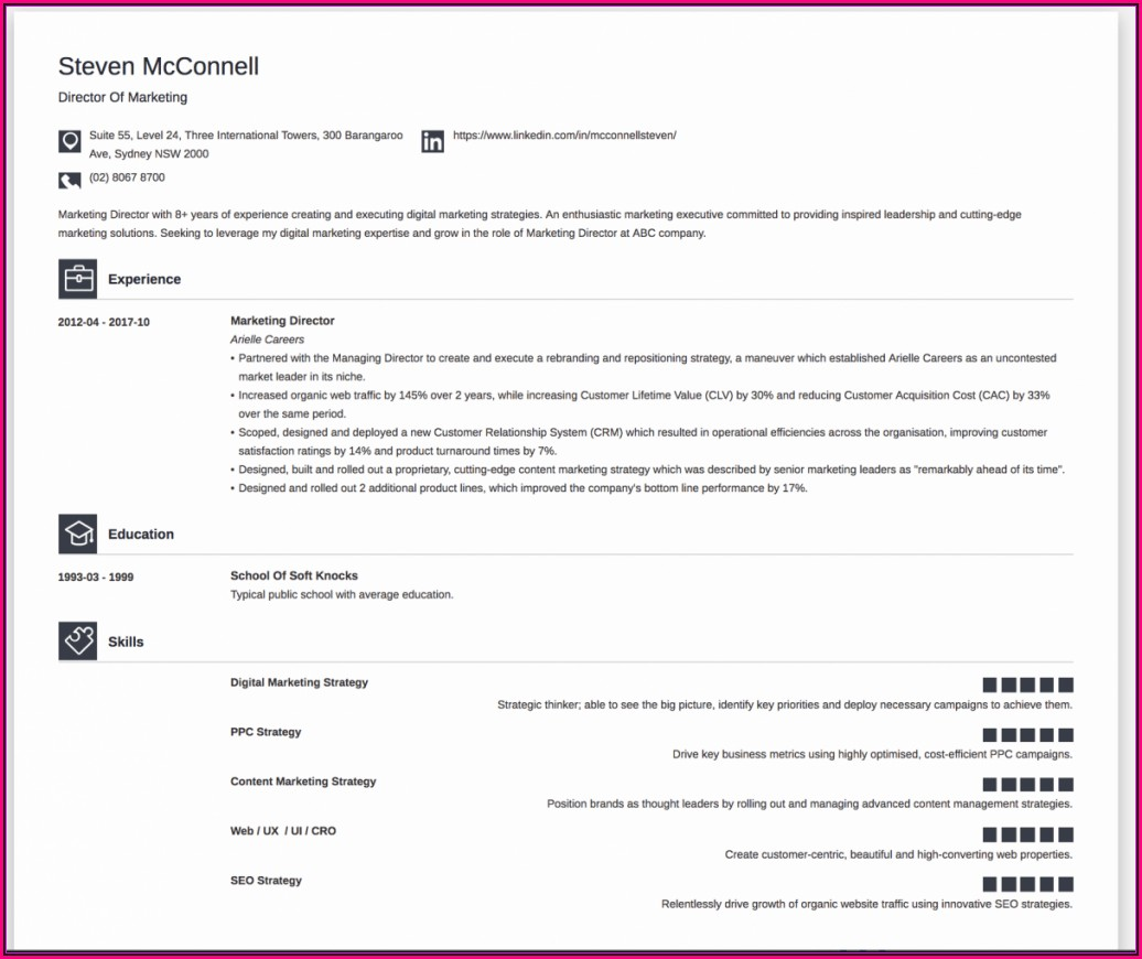 Resume Build Online For Free