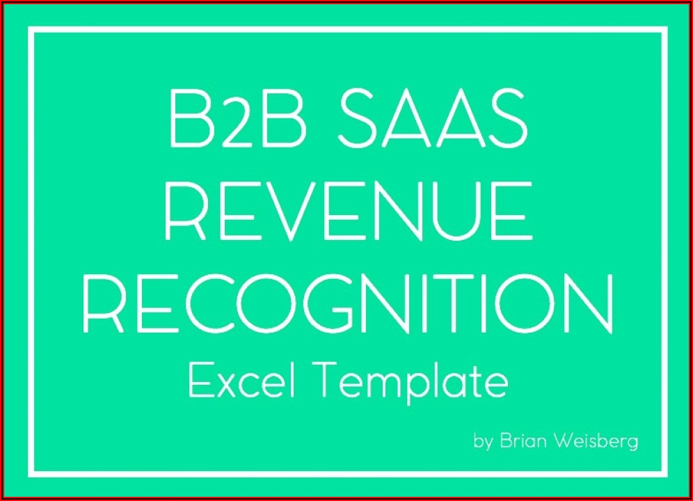 Revenue Recognition Excel Template