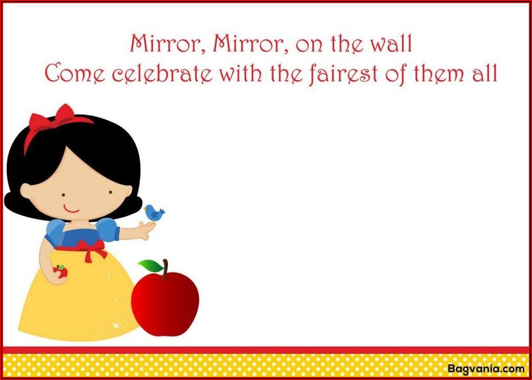 Snow White Invitations Templates