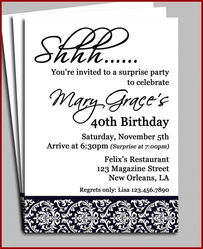 Surprise 70th Birthday Invitations Templates Free
