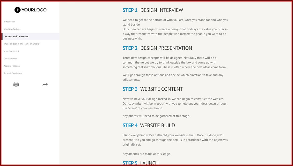 Web Design Proposal Example