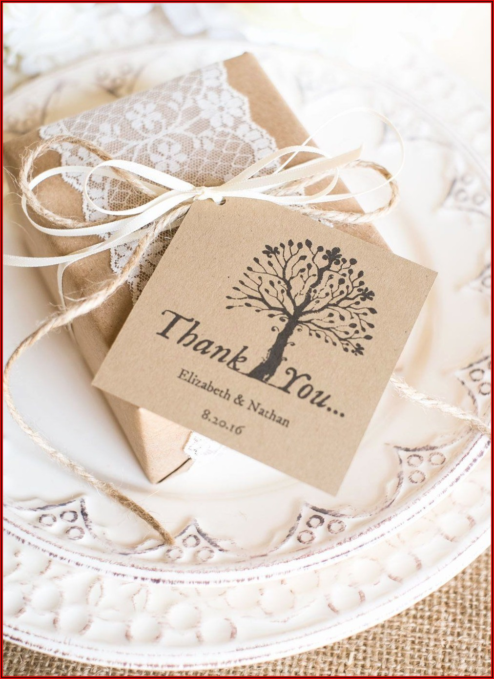 Wedding Favor Labels Template