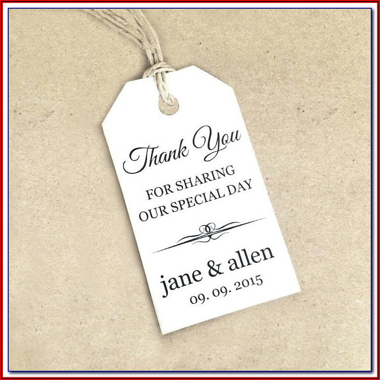 Wedding Favor Tags Template