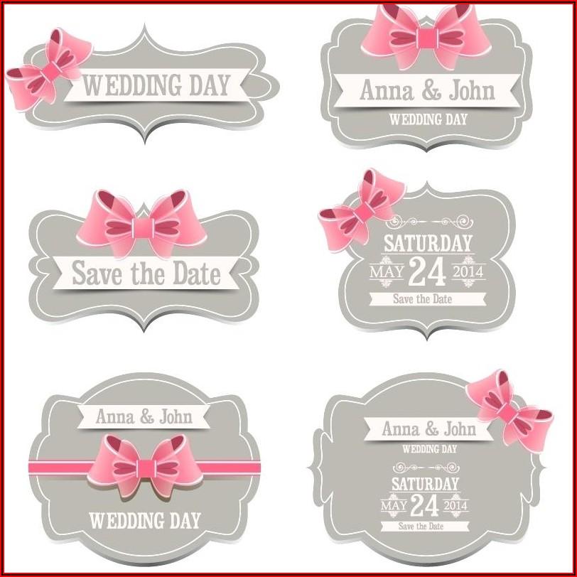 Wedding Favour Labels Template