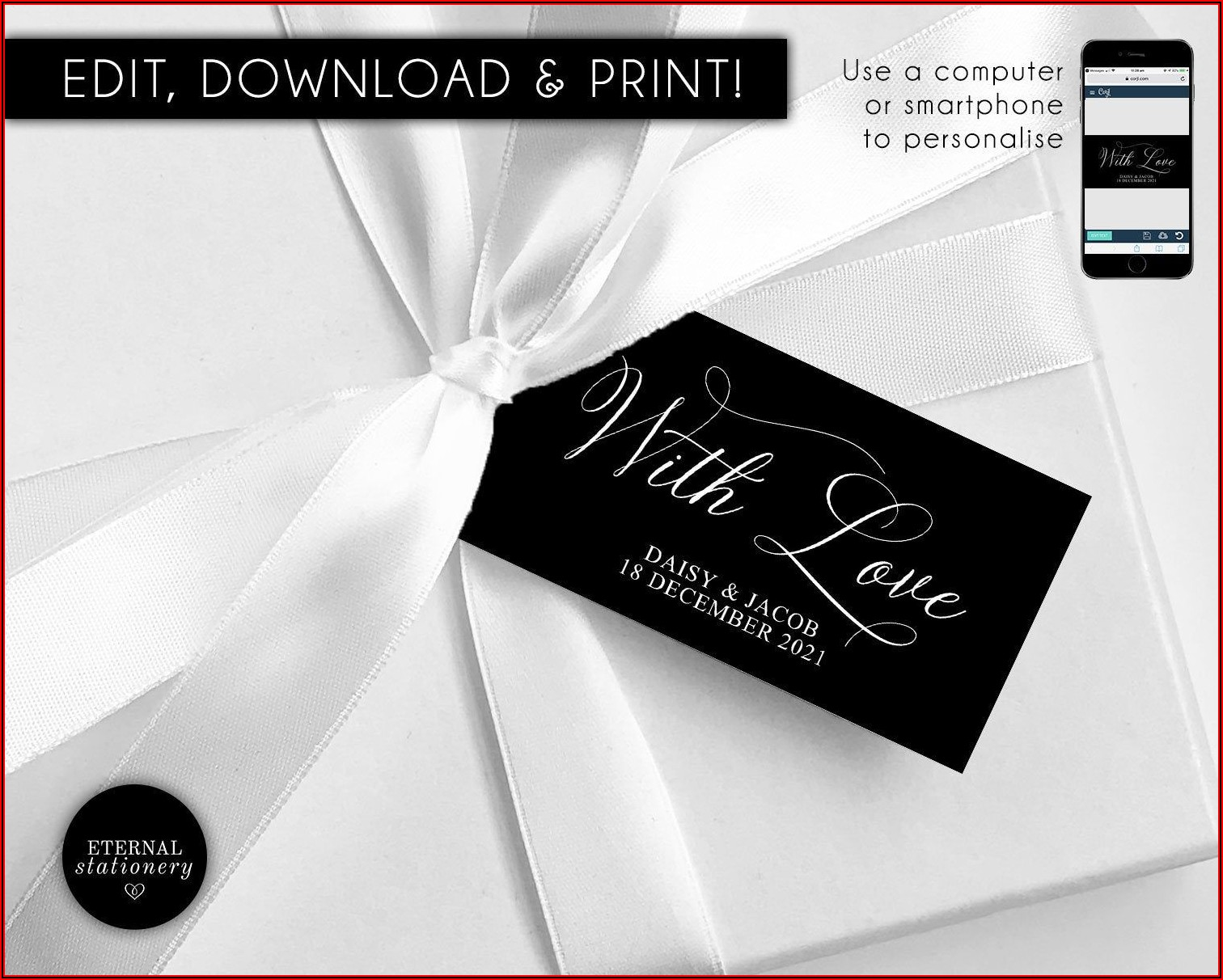 Wedding Favour Tags Template