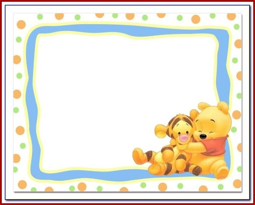 Winnie The Pooh 1st Birthday Invitation Templates
