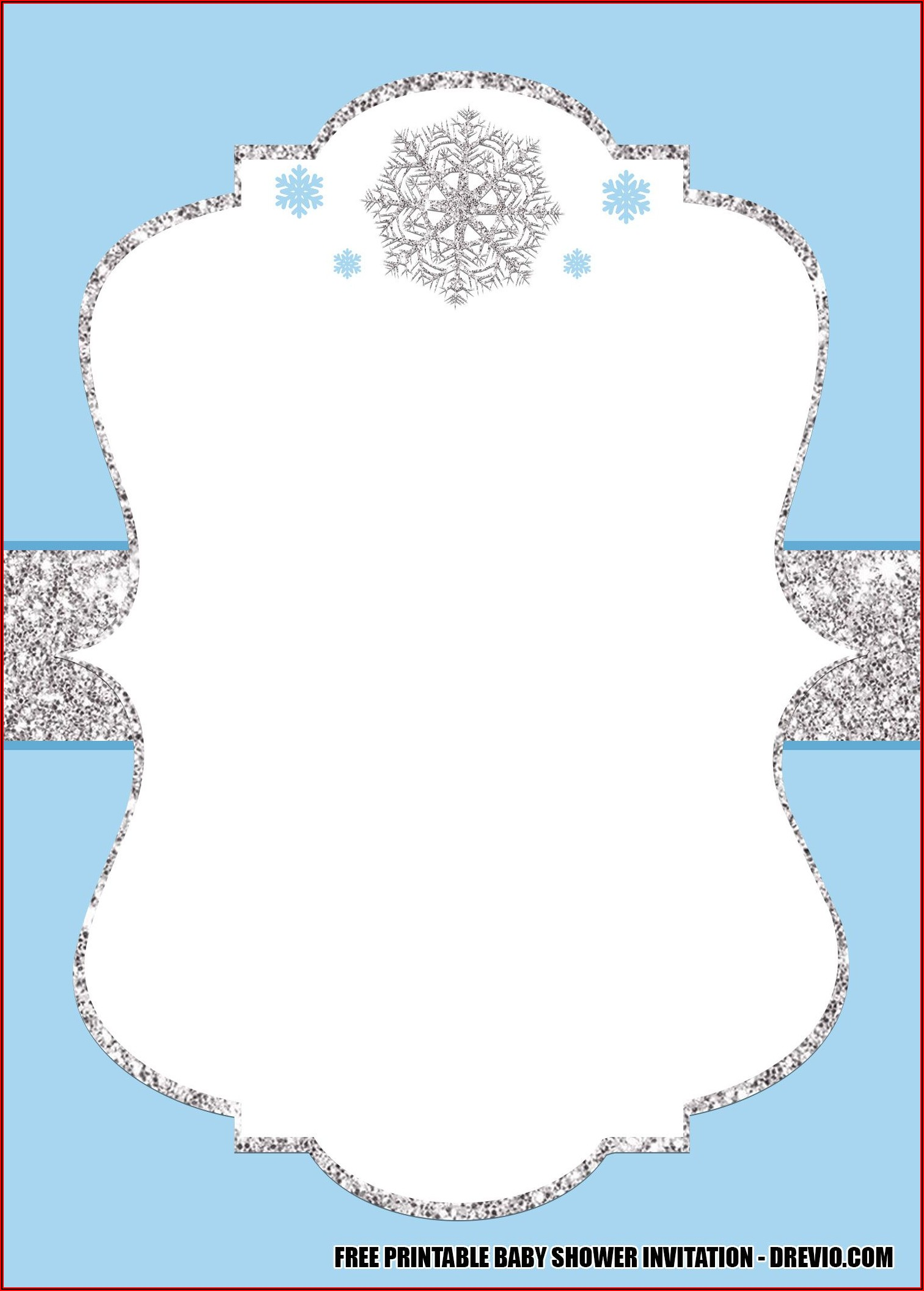 Winter Wonderland Baby Shower Invitations Templates Free
